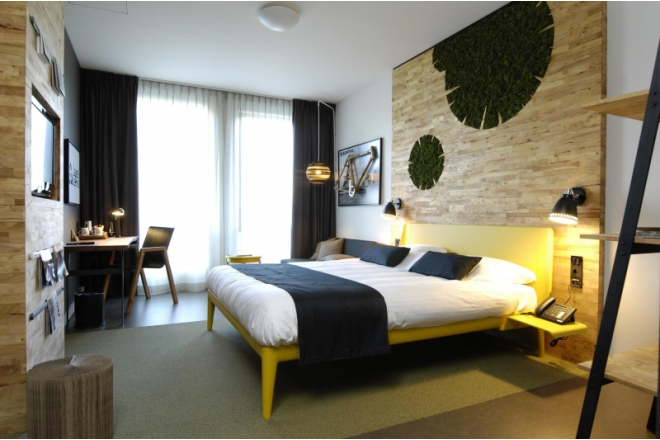 Sustainable hotel room with C2C Certified products