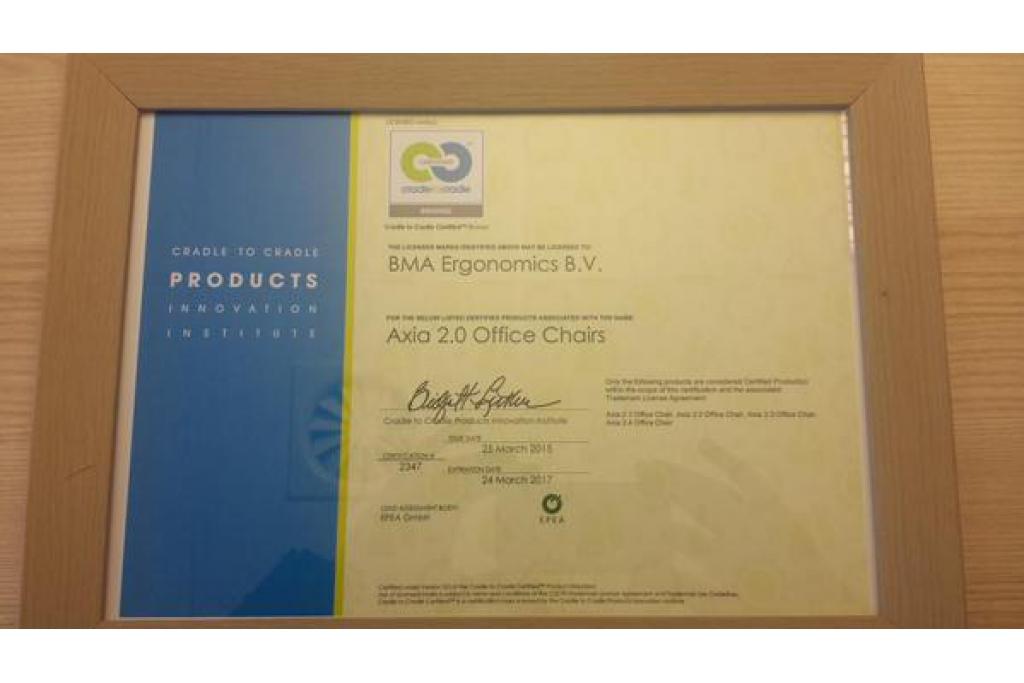 Cradle To Cradle Certificate For Bma Ergonomics Chairs C2c Centre